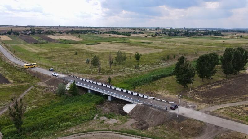 На мості через річку Конка виконано відновлення опорних конструкцій