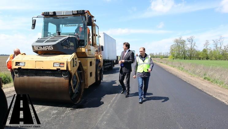 Олександр Старух ознайомився з якістю ремонту автошляху О080288 у Василівському районі